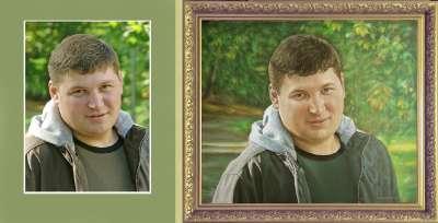 Портрет, выполненный мысляными красками