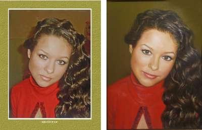 Портрет  девушки к 8 марта