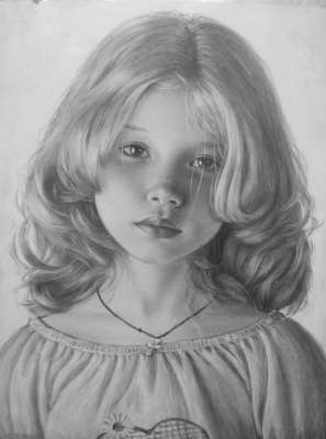 Лиза. Рисунок сухой кистью