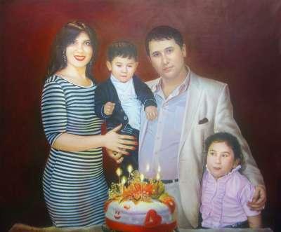 Портрет семьи Акобян.