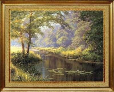Пейзаж с лилиями