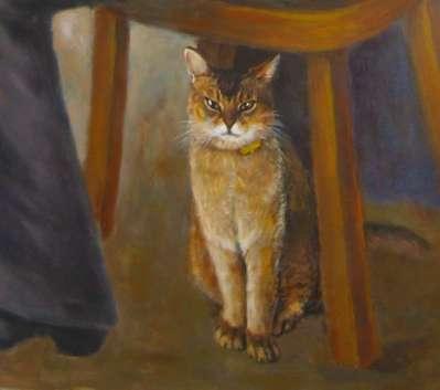 Кот Бакс.(Фрагмент росписи стен). 2008 г.
