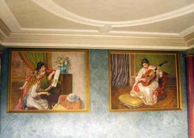 Диптих по мотивам картин Огюста Ренуара