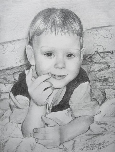 картинки детей нарисованные карандашом для детей