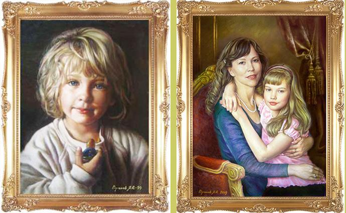 заказать портрет по фото. на холсте красками
