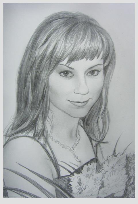 Девушка с букетом цветов художник