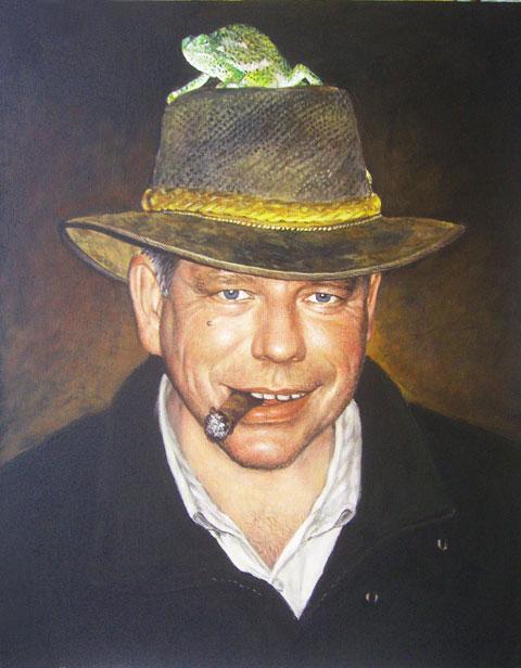 Масляными красками портрет на заказ с